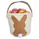 Holiday gift hessian blank buckets bunny bag Canvas Wholesale Easter Baskets