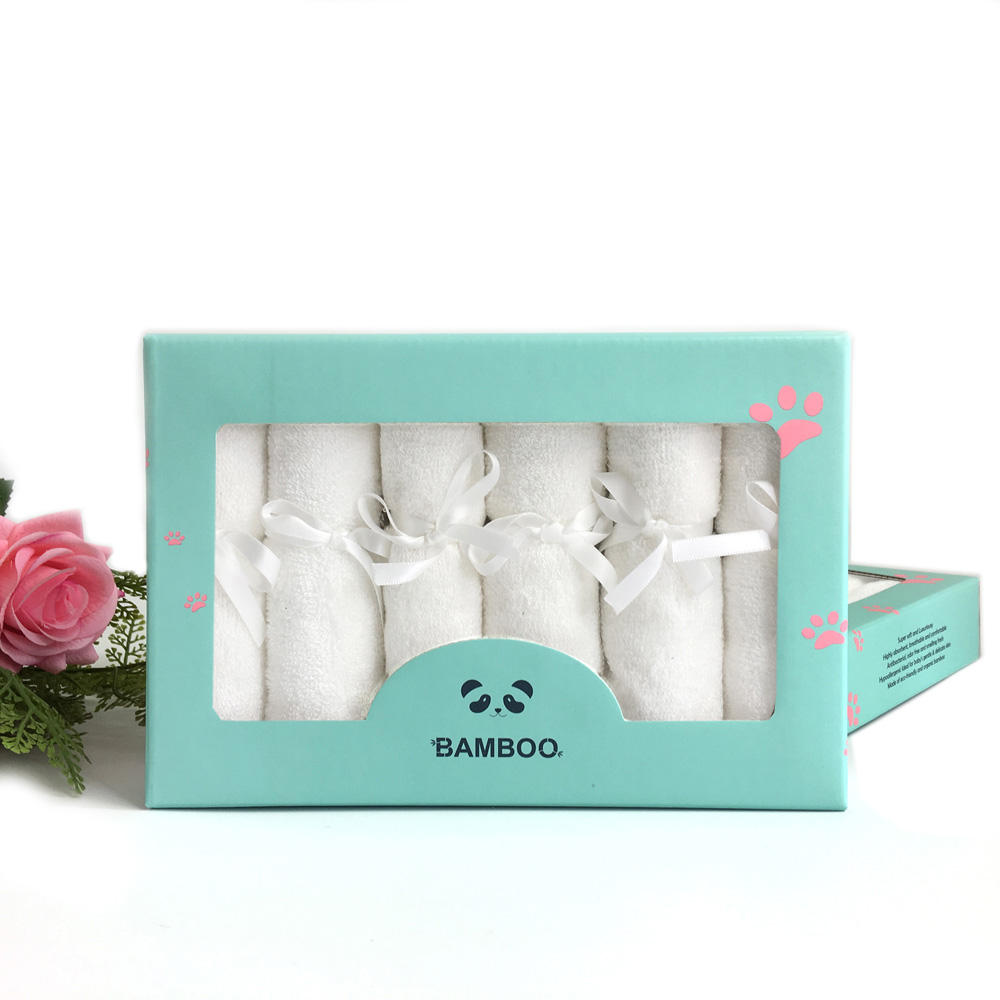 Gift Bamboo Fiber 512gsm Baby Washcloth Towel Baby Wash Cloth