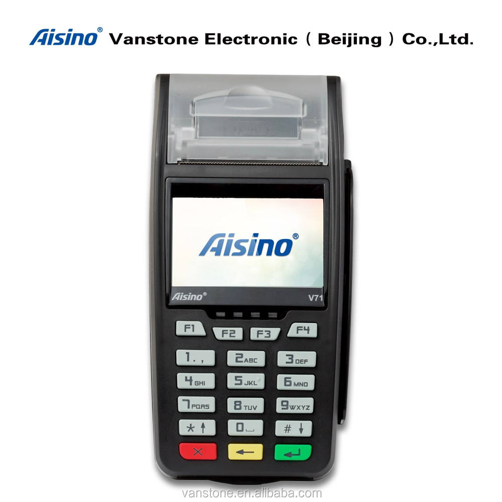 Linux Handheld Mobile Wireless Payment System with WiFi BT GPRS 3G and Thermal Printer POS Terminal pos device