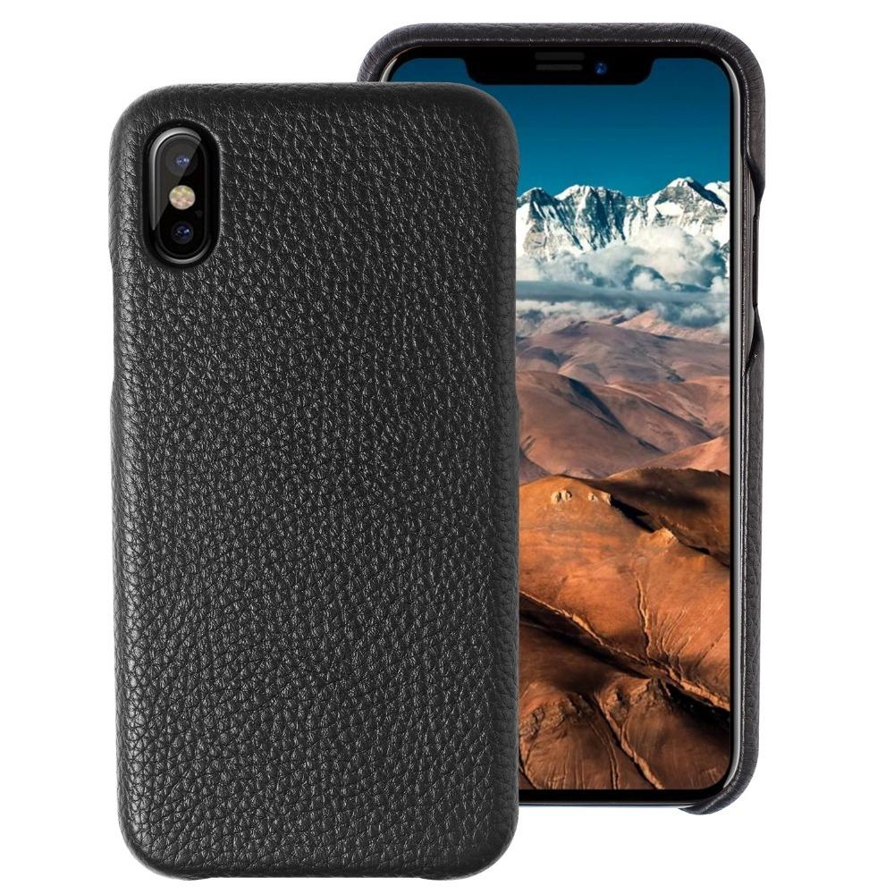 Xguo for iphone x case luxury genuine leather case