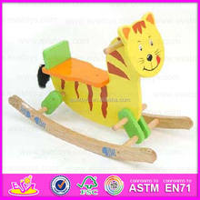 2015 Cute Wooden Rocking Horse Toy For Kids,lovely safe eco-friendly sport walking horse toy,Wooden rocking horse toy WJY-8003