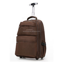 Adult shoulder bag with canvas trolley backpack