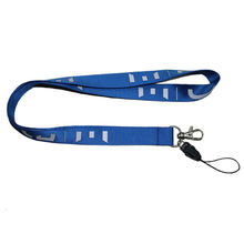 Polyester ID Lanyard Custom Heat Treansfer Sublimation Printing Logo Neck Strap with Cellphone Loop and Metal Hook
