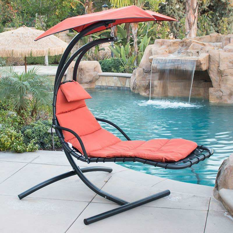 Dream Chair Suspended Lounger With Umbrella Air Porch Swing Sun Lounger With Canopy / Shade