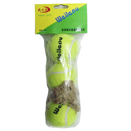 3 pcs /bag with elastic string design your own logo cricket tennis ball