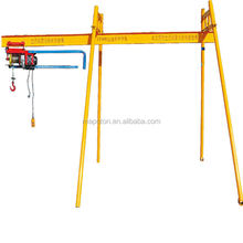Outdoor Mini Roof Crane Hoist 4 Pillar Electric Winch 220v