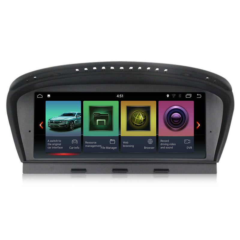 "PX6 Android 9.0 4G+32G MEKEDE 8.8"" IPS Screen Car Radio Player For BMW 5 Series E60 E60 E61 E63 E64 3 Series E90 E91 CCC CIC"