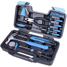 Plastic Toolbox Storage Case packing home use General Household Hand Tool Kit,hand tool set