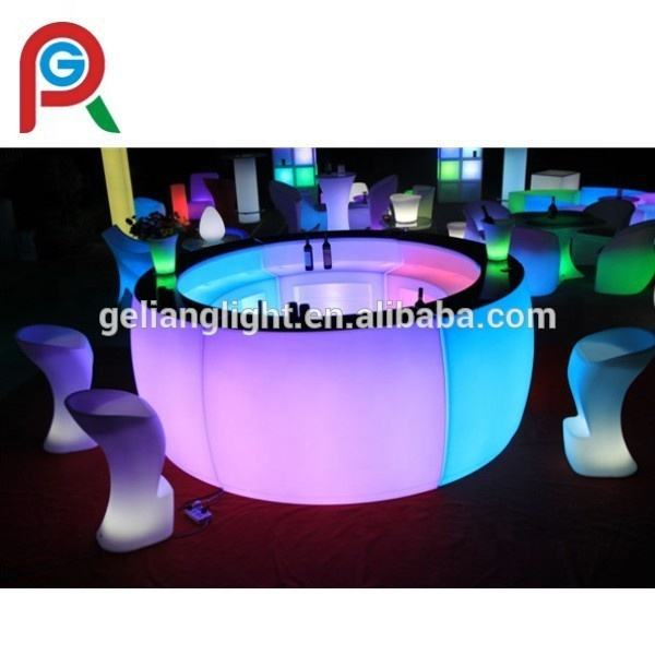 LED <span class=keywords><strong>Furniture</strong></span> Modern Bar Desain LED Meja Bar