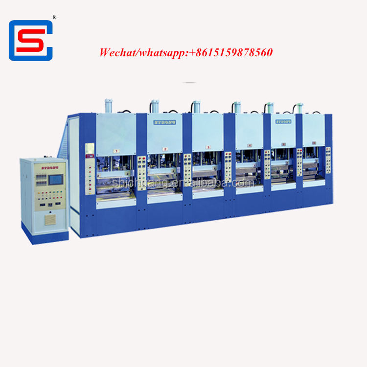 TWO COLORS foam EVA INJECTION MOULDING MACHINE WITH SERVO MOTOR