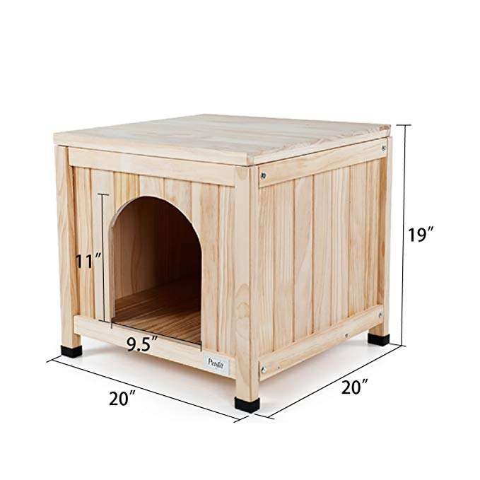Indoor Wooden Pet House for Small Dog and Cat
