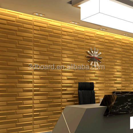 Top selling pine MDF wooden embossed acoustic wall panels for walls