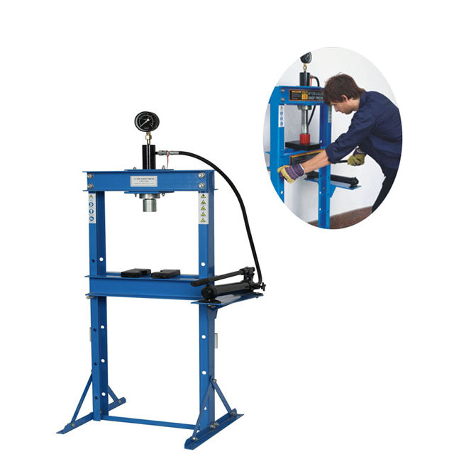 CE Certification 12 TON Hand Power Vertical Hydraulic Track Press with Gauge