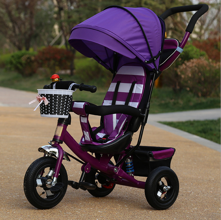 2019 new model cheap baby children tricycle/4 in 1 function foldable tricycle for sale/rubber tire baby toy three wheel tricycle