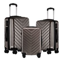3 Piece set PC trolley suitcase spinner hardshell lightweight suitcases