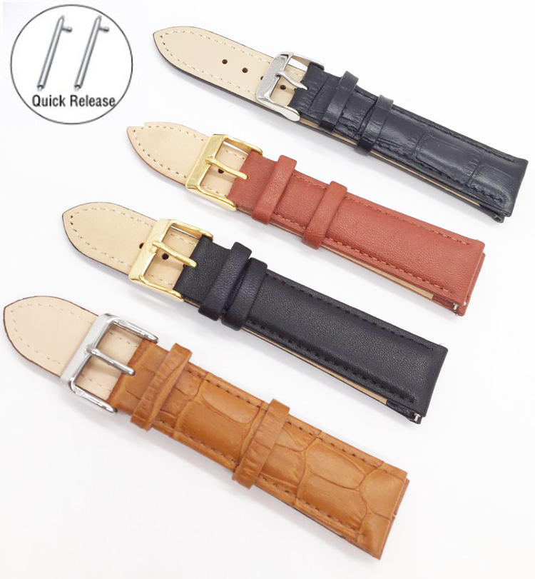 Wholesale Handmade 20mm In Dubai Genuine Leather Watch Strap