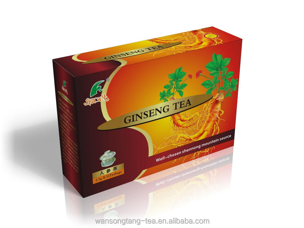 Green natural ginseng wolfberry herbal tea for anti-ageing