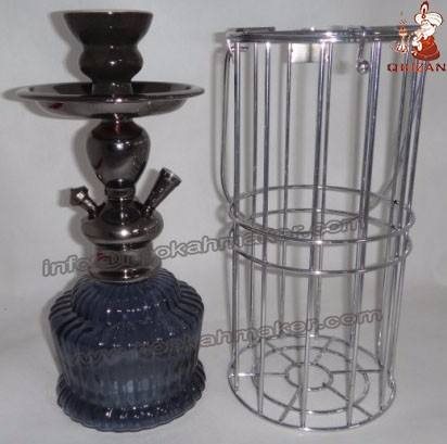 New Caged Shisha Manufactory Hookahs Water Smoking Pipe Wholesale Medium Narghile Hookah Distributor