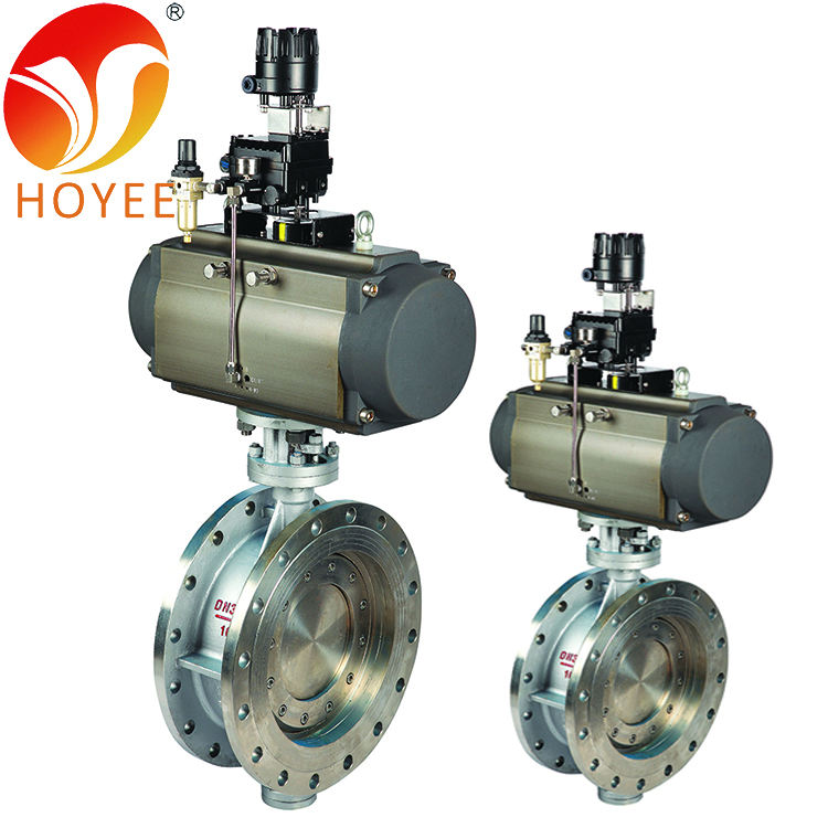 Pneumatic Actuator 16 Inch Butterfly Valve 400 Mm