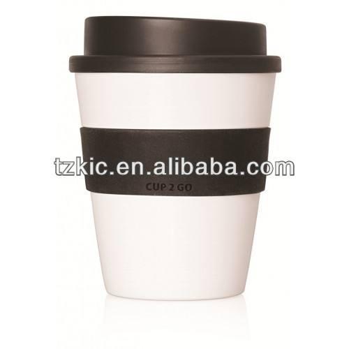 12oz tornillo de la parte superior de plástico café tazas/mugs/tarros tazas con tapa