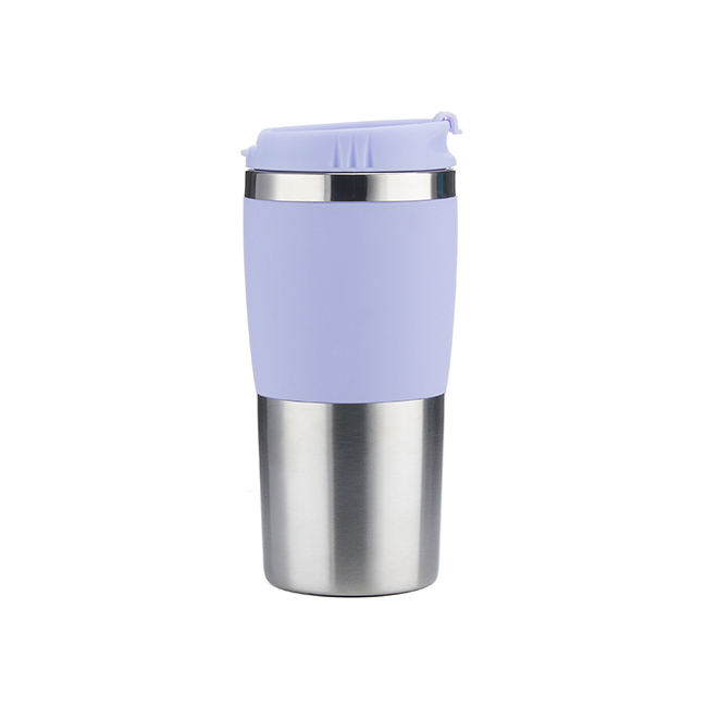 New 14oz stainless steel travel tumbler with flip lid