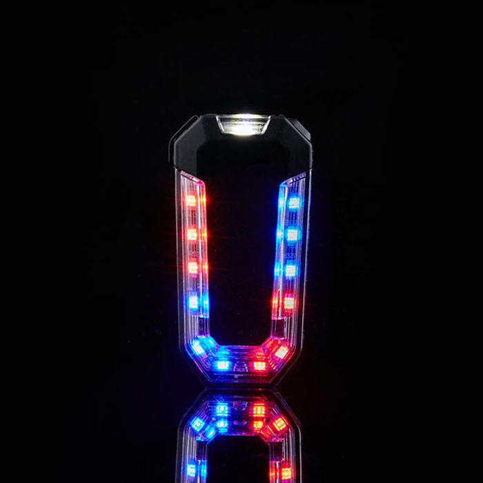 Led [ Traffic Light ] Led Traffic Lights Senken Highlighting Red And Blue Waterproof Flashing Rechargeable Security Police Traffic LED Shoulder Light