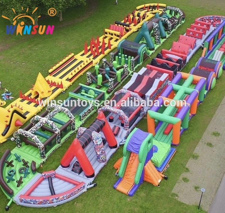 U shape Giant Inflatable Obstacle Course, Adult Inflatable Obstacle Course run, Inflatable Obstacle rides For Sale