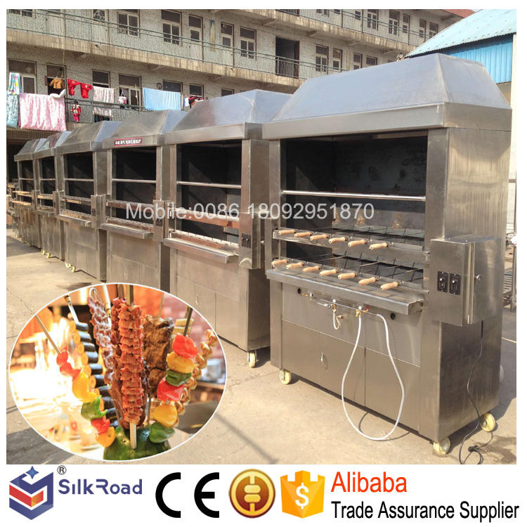 Commercial stainless steel charcoal bbq grills