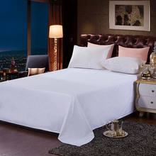 White hotel cotton bed sheets for sleeping