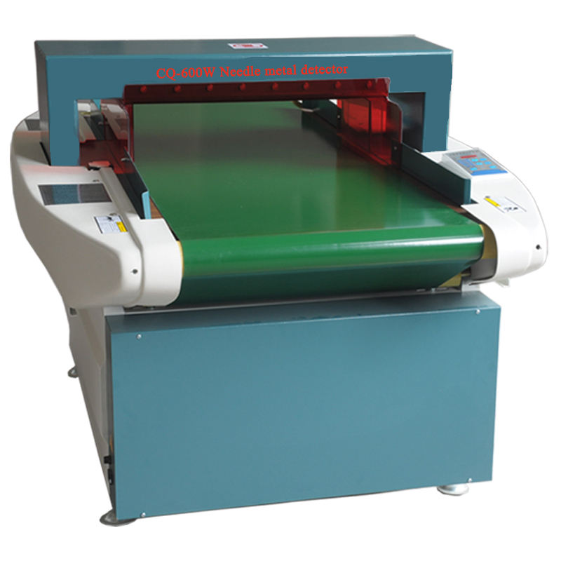 China cheap needle metal detector machine with conveyor belt for shoes