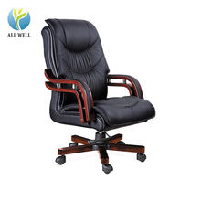 Office furniture executive pu/genuine leather revolving boss office chair