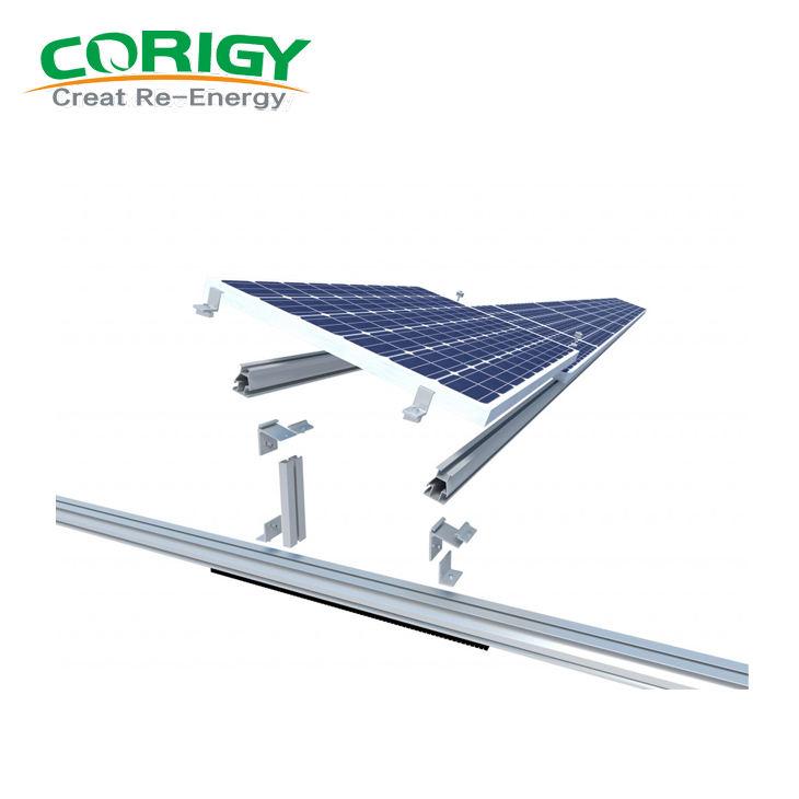 bảng điều khiển năng lượng mặt trời PV mái phẳng xi măng