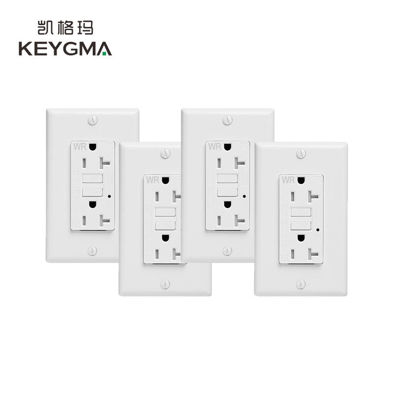 KEYGMA Multi Functional TR 2 Years Warranty <span class=keywords><strong>GFCI</strong></span> AC Wall Socket
