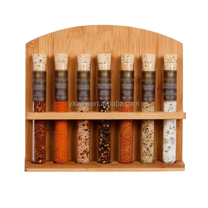 Bamboo plating spice rack