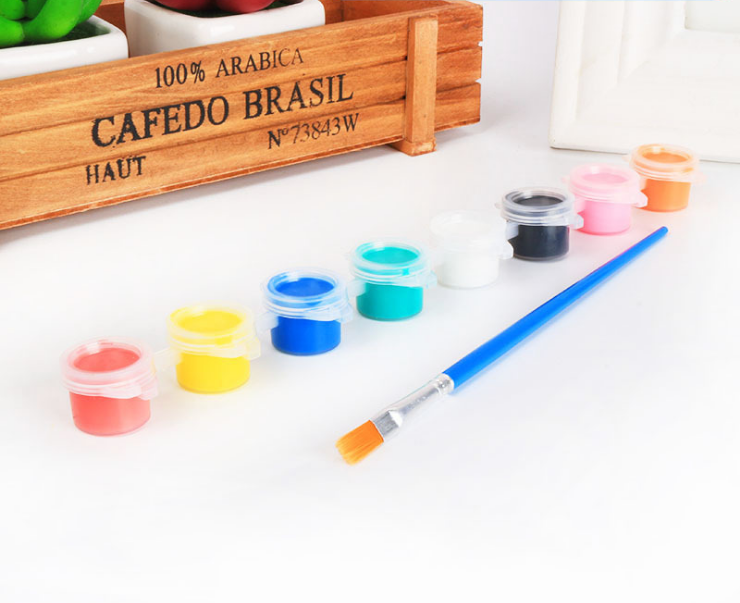Artsky Acrylic Paint Set-12/6 colors- with brush-for children, school, office