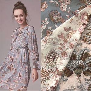 cheap Factory Price Chiffon Printed Fabric For New Style Chiffon Long Dresses