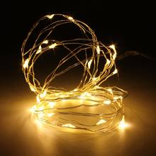 5M 50 LED String Light Christmas Copper Wire LED String Fairy Light 3A Battery Operated Party