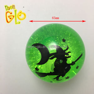 Custom Design Halloween LED Water Bouncing Ball with flashing light