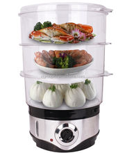 3-layers Round Shape Steamer, 10 L XJ-12817B  Electric Stainless Steel Food Steamer