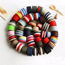 Customized   printed jacquard elastic rubber band