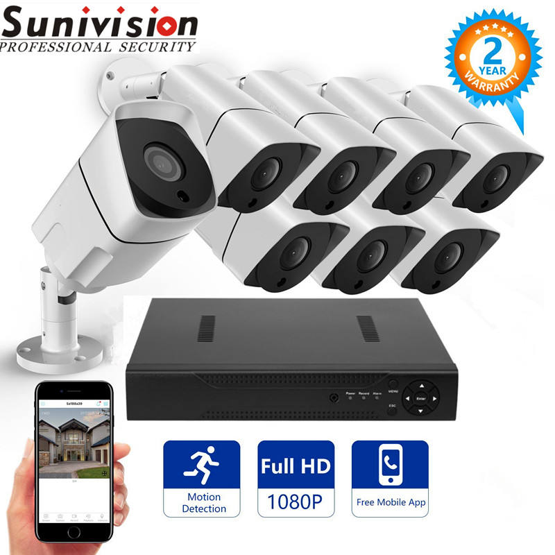 8CH HD 1080P night vision AHD CCTV Security camera System