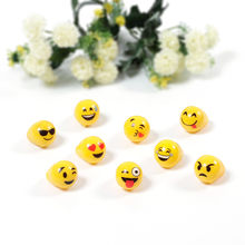 Flash Glowing Led Finger Ring Plastic Emoji Finger Flash Ring