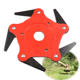 Steel [ Grass Head ] Brush Cutter Spares Brush Cutter Blade Grass Trimmers Cutting Head With 5 Razors Steel Power Lawn Mower Replacement Garden Tools Spare Parts