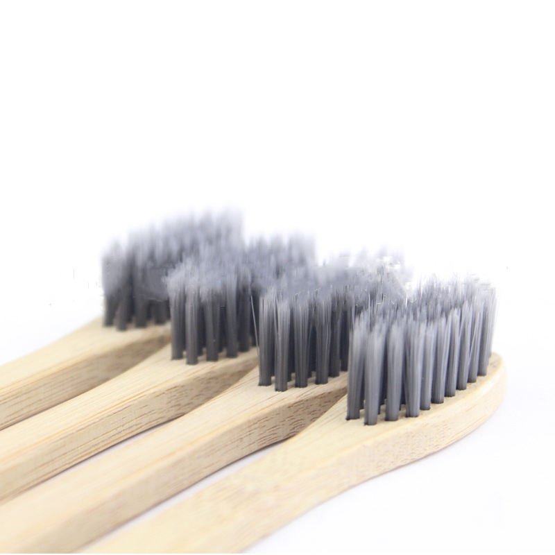 Eco-Friendly Natural Biodegradable Bamboo Toothbrush Charcoal Bristle