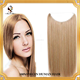 China supplier pretty color human hair cheap halo hair extensions silky straight hair extension with fish line