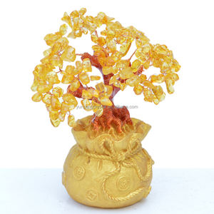 Gemstone citrine crystal Tree gem tree for Decor Reiki Metaphysical Feng shui and Healings