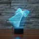 Xmas greeting gift 3d Effect Night Light Acrylic Led Table Lamp