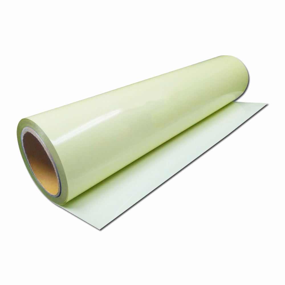 self-adhesive reflective pvc printing fluorescent photoluminescent glow in the dark sticker film tape paper sheet vinyl in roll