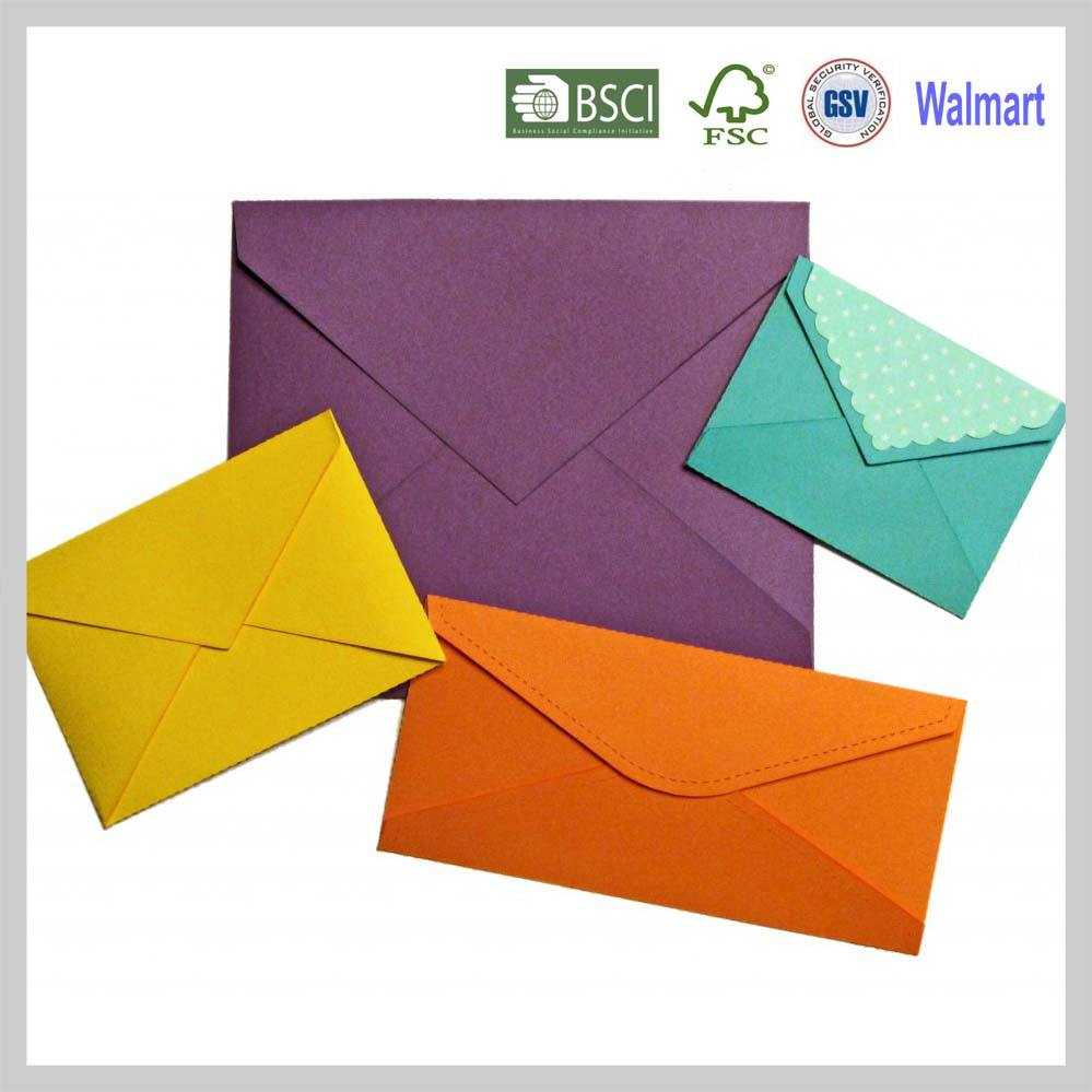 OEM colors fashion paper envelop for invitation letters