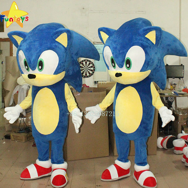 Funtoys CE custom made cosplay sonic mascot costume